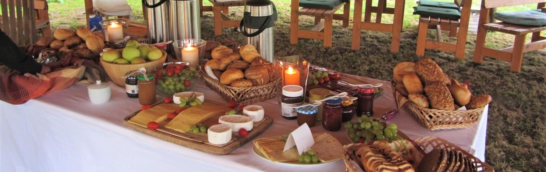 Frühstück in einmaligem Ambiete
