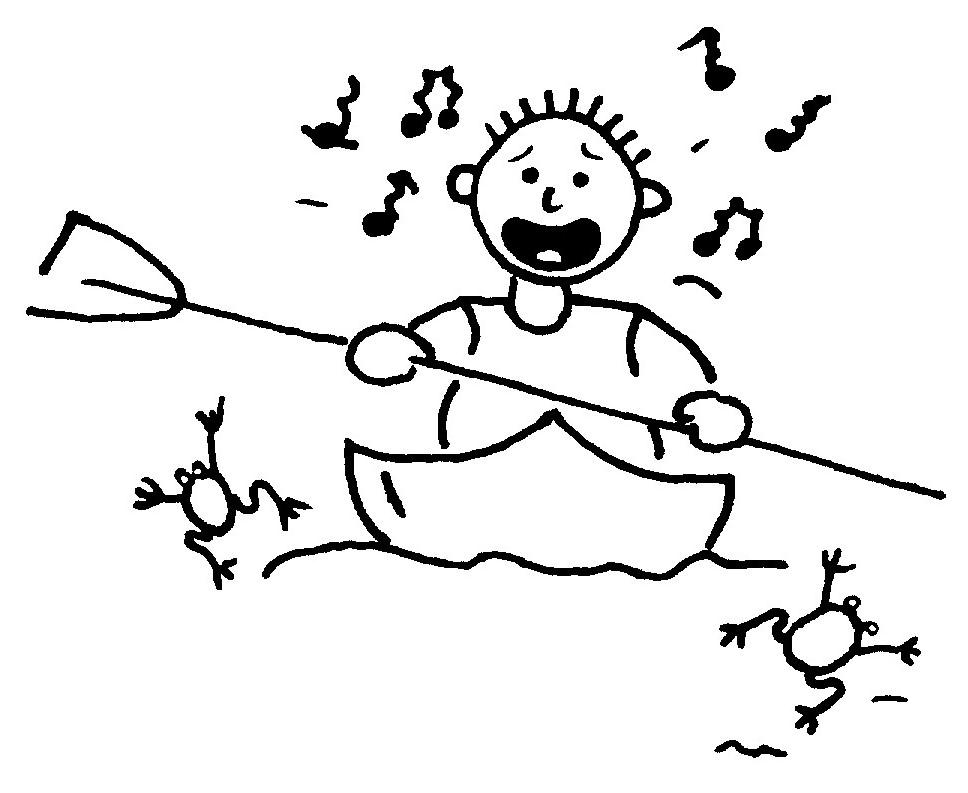 Zeichnung Paddler macht Krach