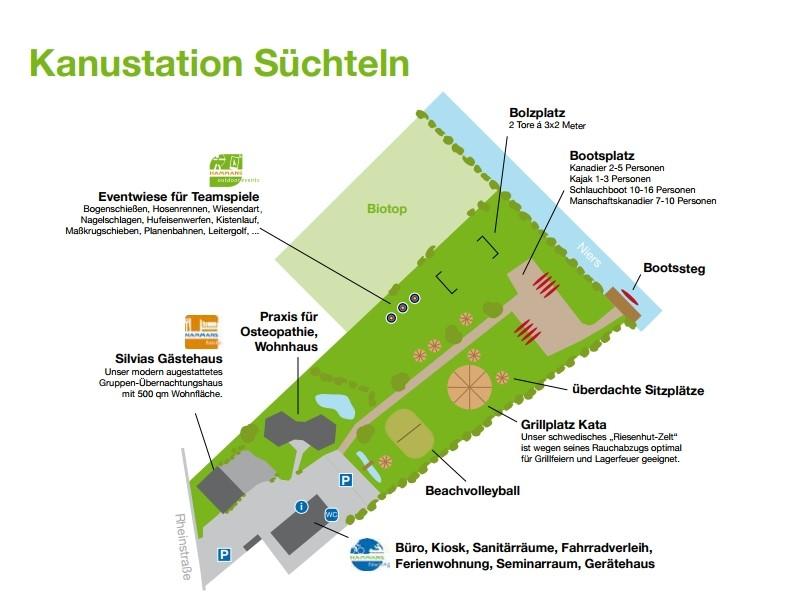Kanustation Lageplan